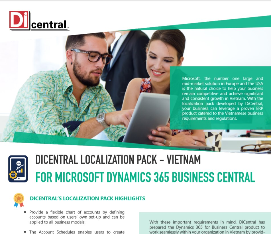 DiCentral's Vietnam Localization Pack For Dynamics 365 BC