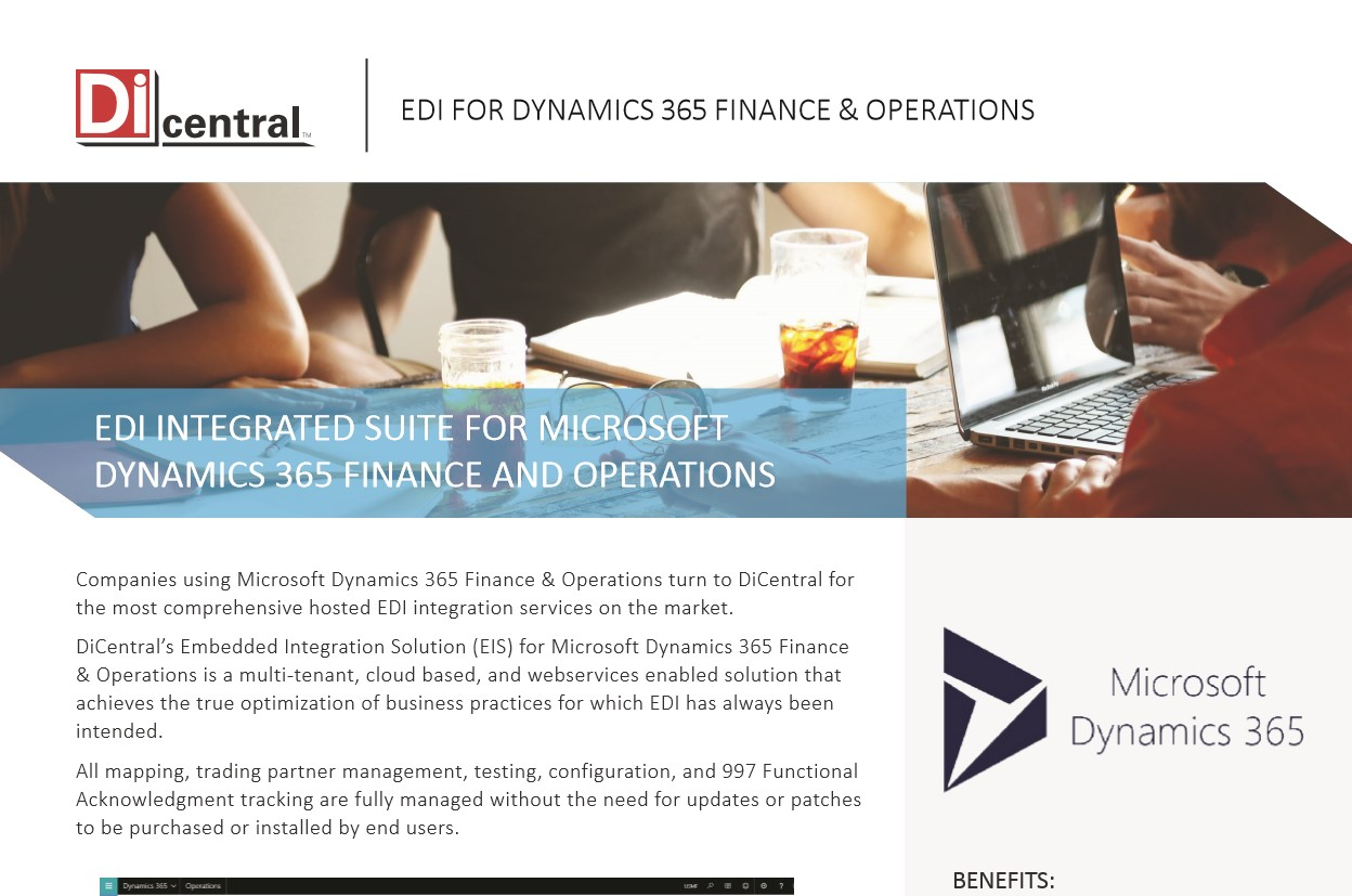 EDI Integrated Suite For Microsoft Dynamics 365 Finance And Operations