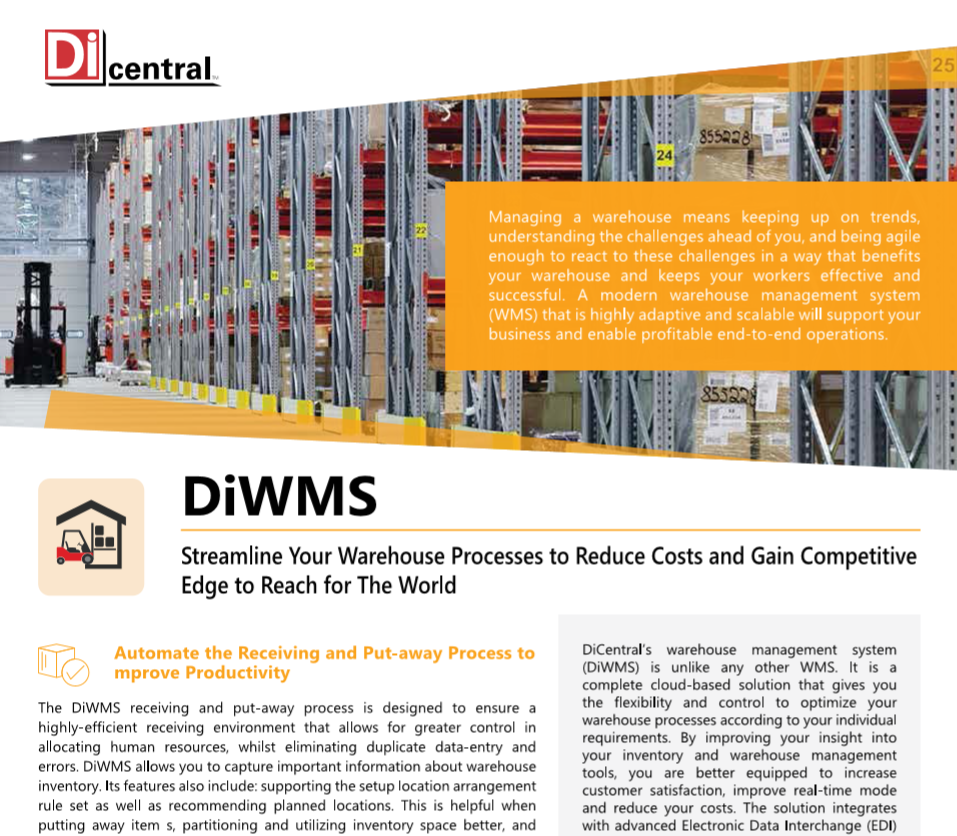 DiWMS - Streamline Your Warehouse Processes