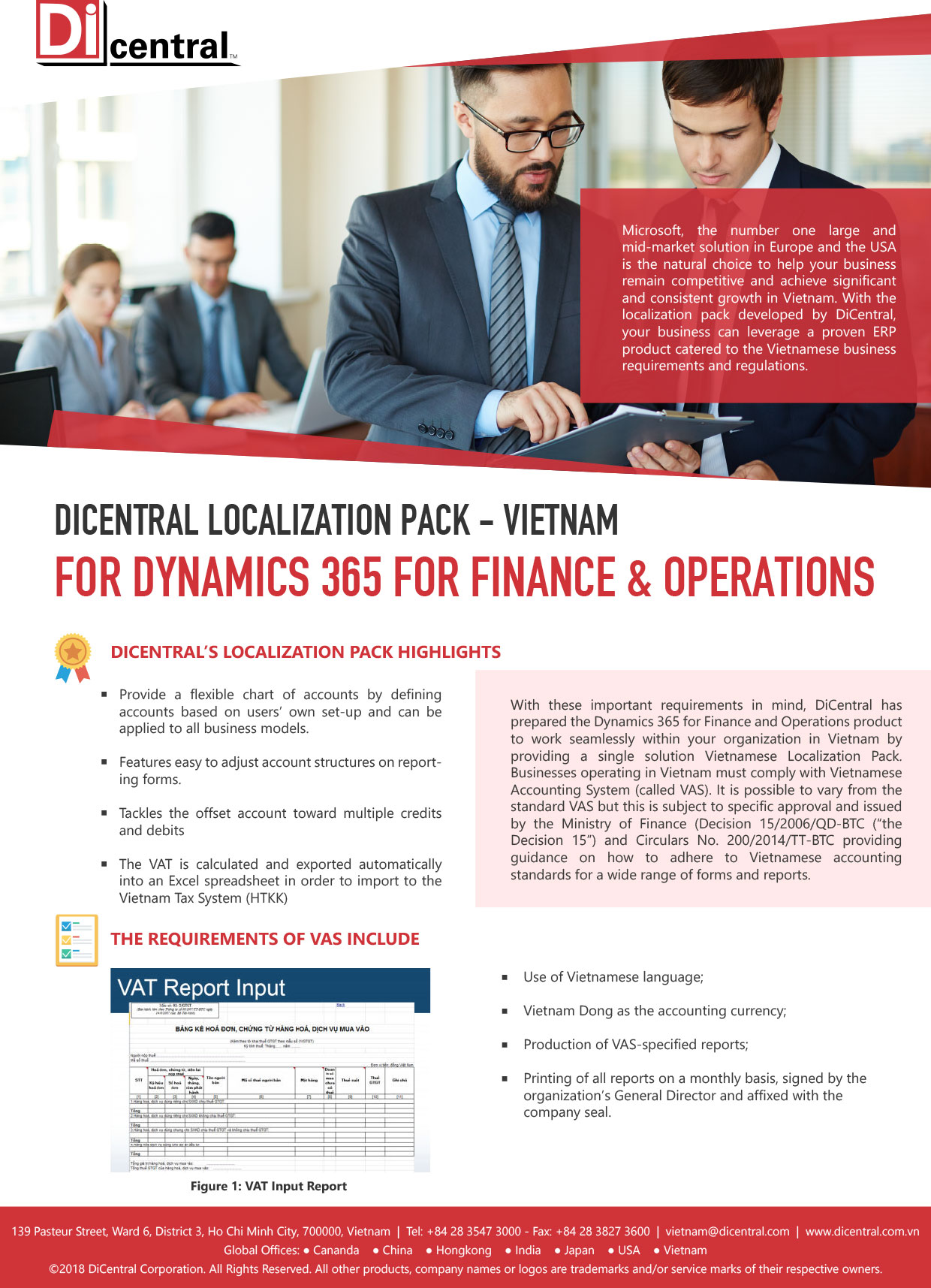 DiCentral Localization Pack - Vietnam For Dynamics 365 For Finance & Operations